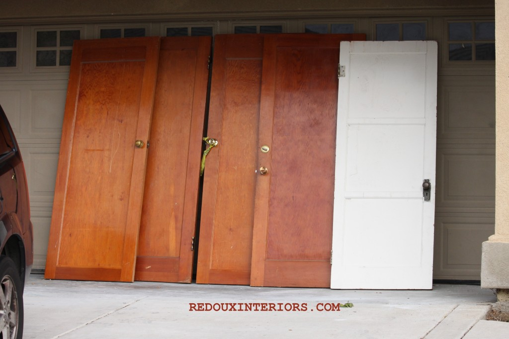 New idea for an old door how to make a weathered glaze finish - What to do with old doors ...