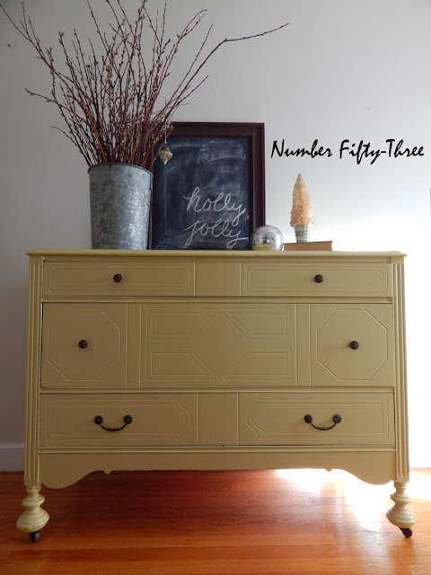 Number 53 Yellow Dresser