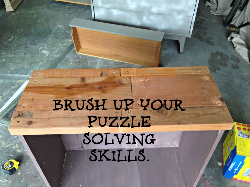 scrap wood top for bookshelf makeover redouxinteriors