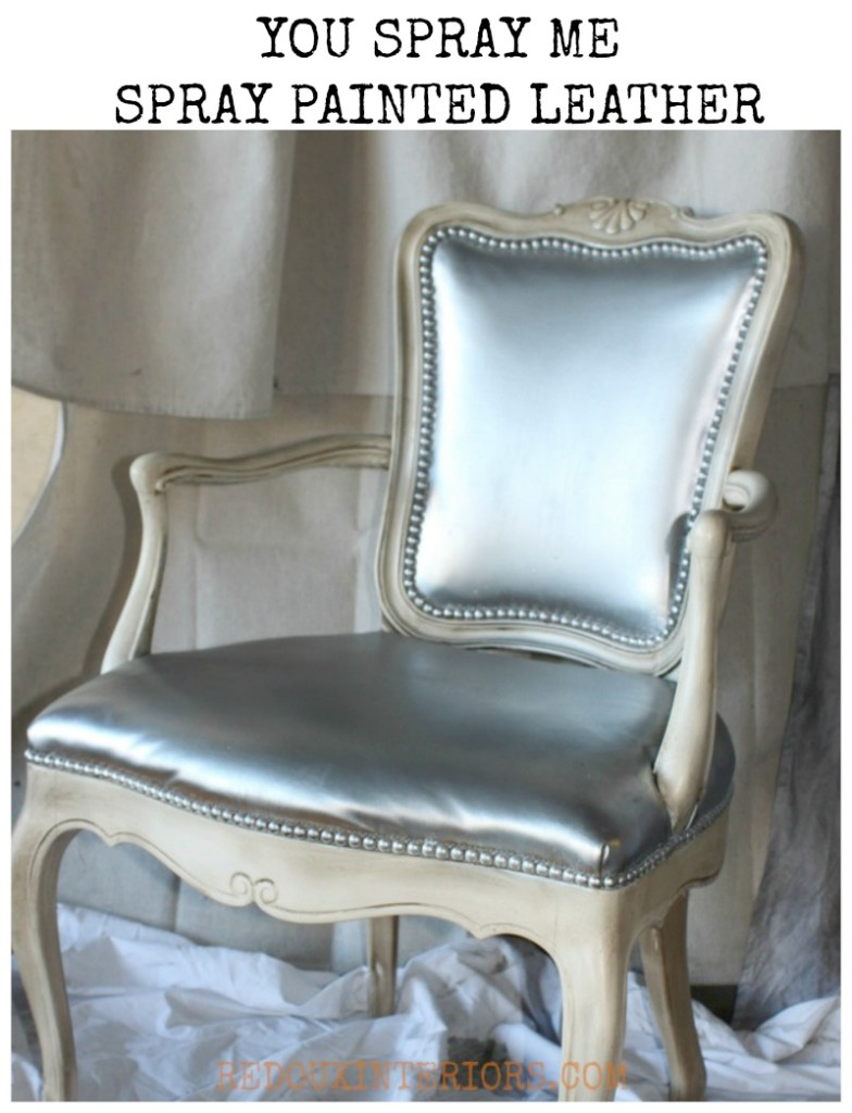 spray painted leather chair redouxinteriors