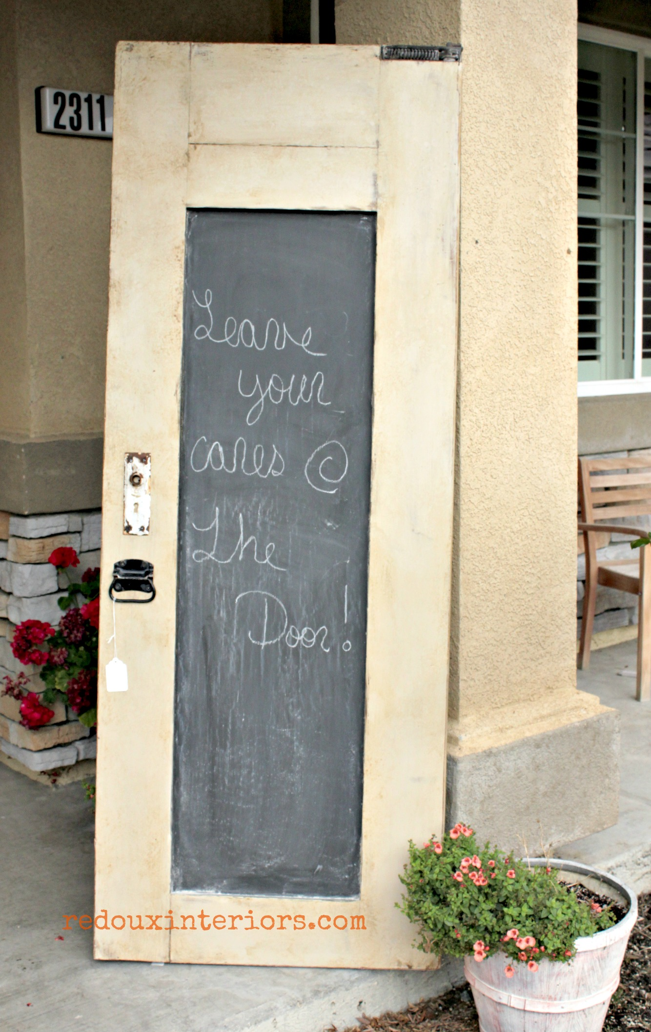 Chalkboard door with weathered glaze redouxinteriors & New Idea for an old Door How to make a weathered glaze finish