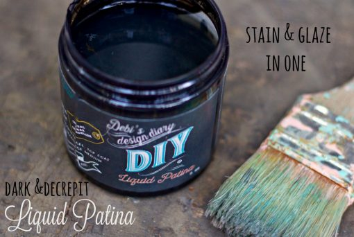 Dark and Decrepit Liquid Patina Stain and gel DIY Paints