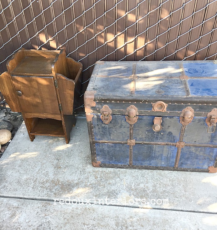 Free Trunk and Sewing Cabinet redouxinteriors