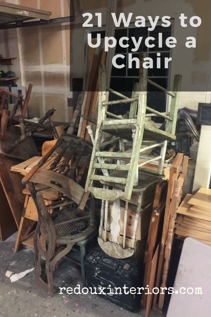 I hope some of these chair upcycles have inspired you to look at your old chairs or the next chair you find on the side of the road into the next great ... & 21 Ways to Upcycle a Chair