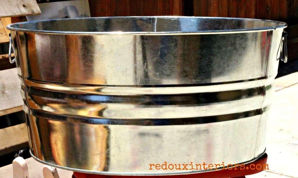 Galvanized bucket before painting redouxinteriors