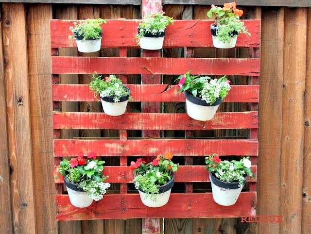 Pots on Wooden Pallet Redouxinteriors