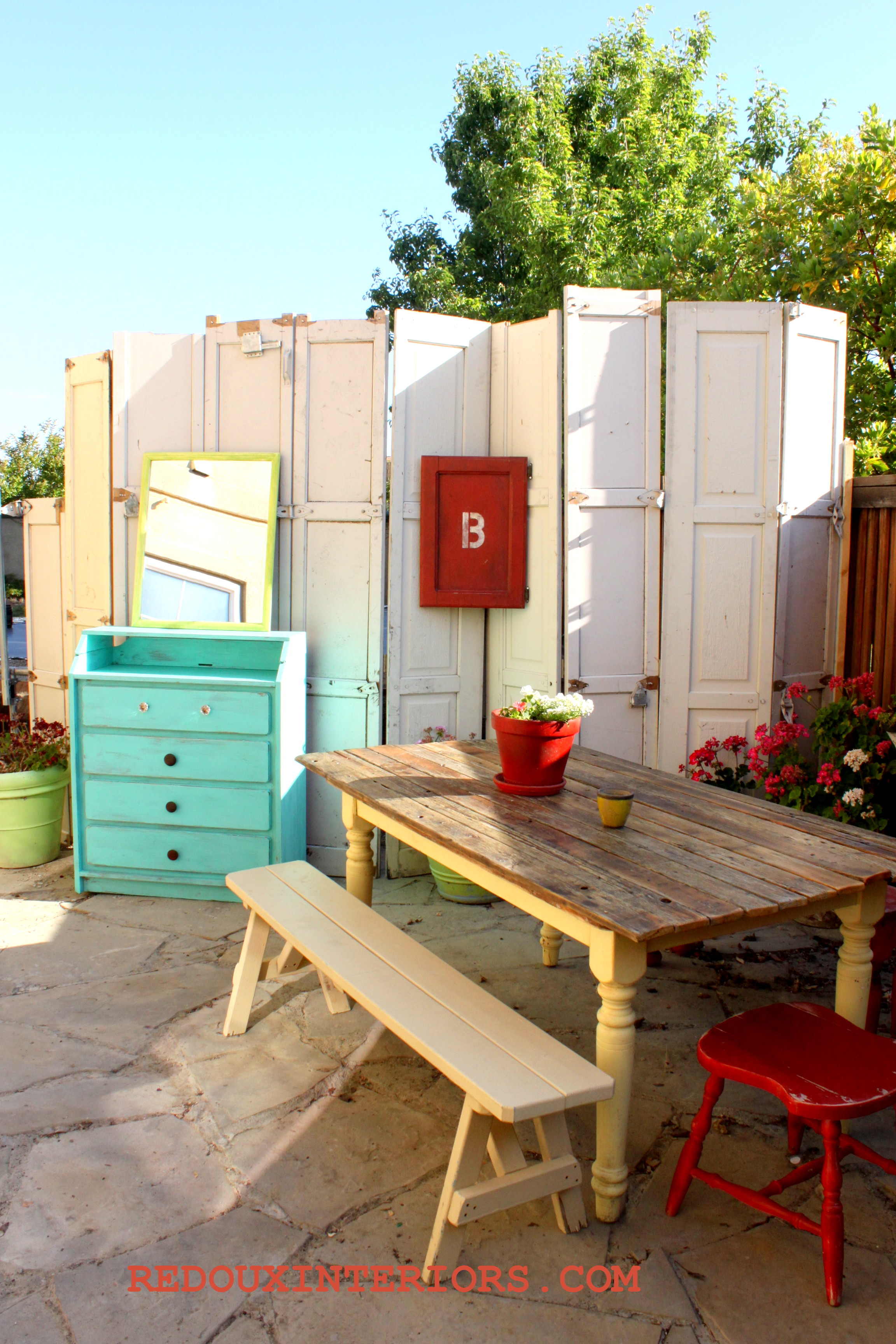 Garden Decorating with Junk ideas, Redoux Style on Backyard Patio Decorating Ideas id=29073