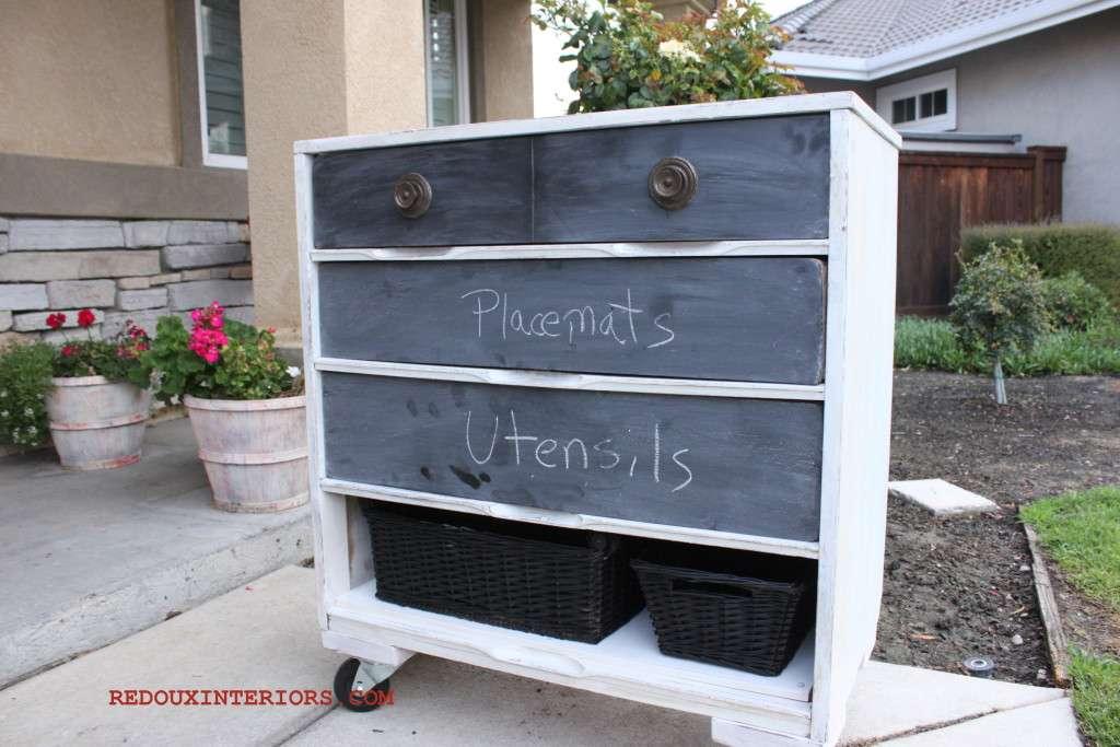 Chalkboard dresser 2