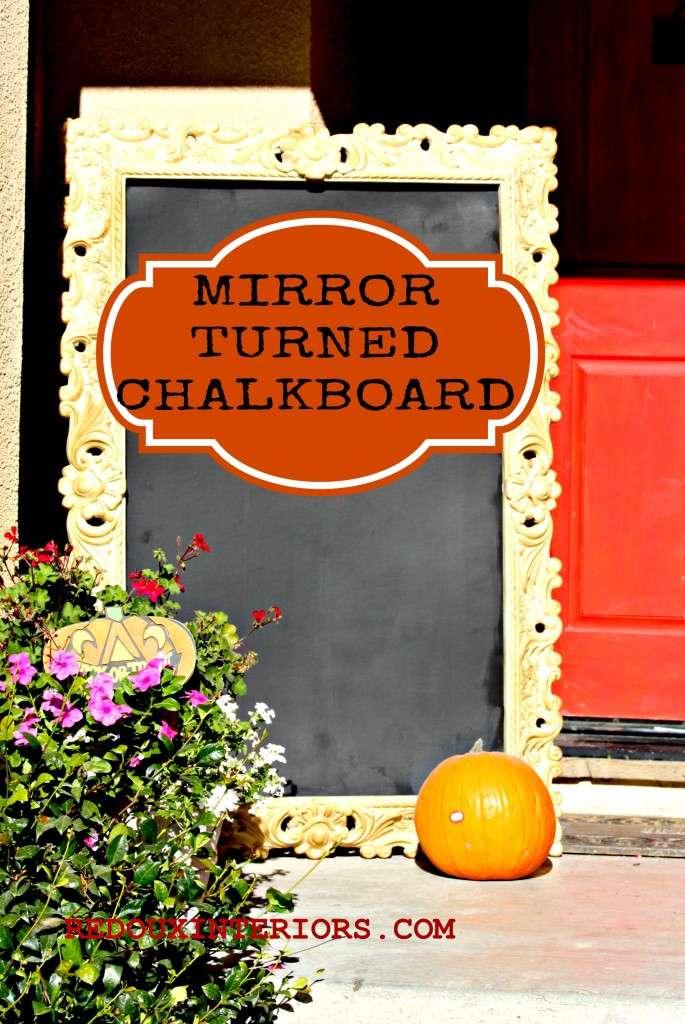 Mirror turned chalkboard