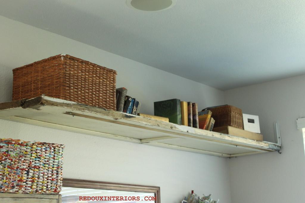Garage panel shelf