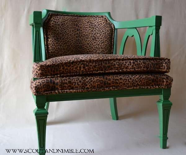 Animal Print Chair