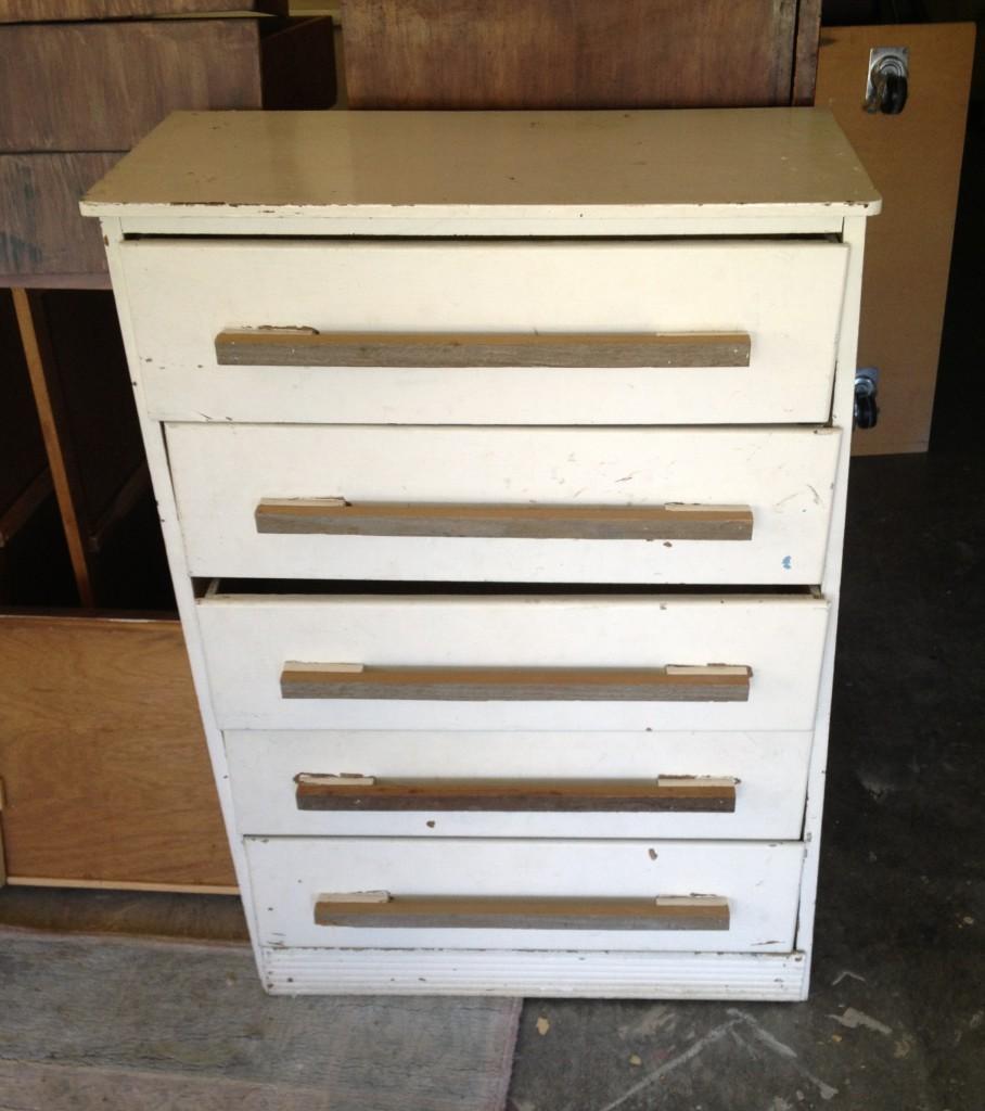 White Church Dresser before