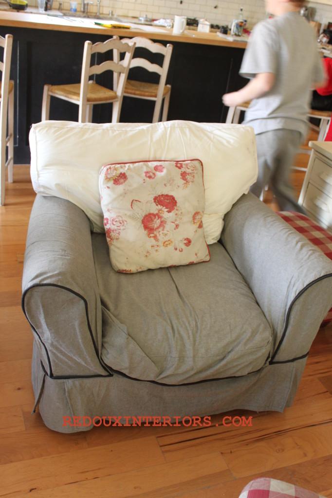 Overstuffed Chair before
