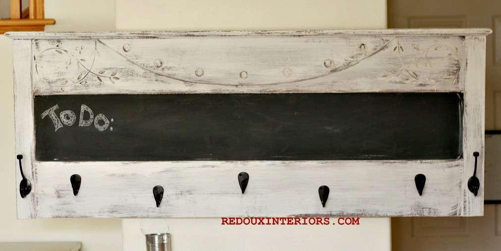 headboard turned chalkboard redouxinteriors