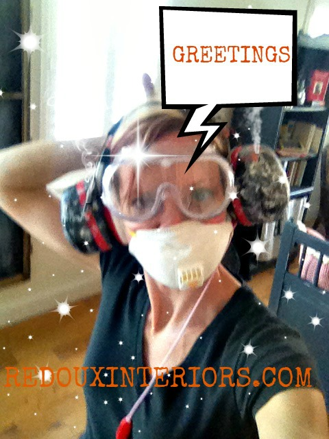 Dust Mask with caption