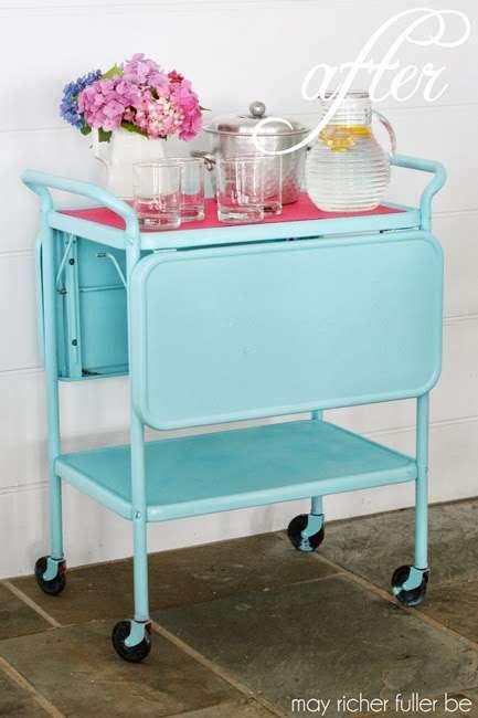 Vintage-Kitchen-Cart-Makeover-After