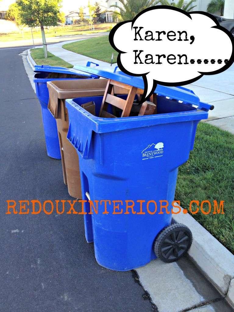 Goodies in garbage Redouxinteriors