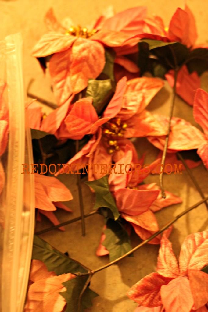 Silk Poinsettas