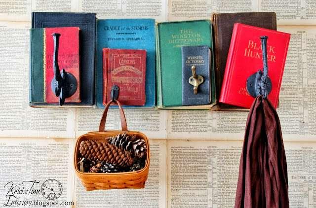 Repurposed Books Coat Rack Knick of Time