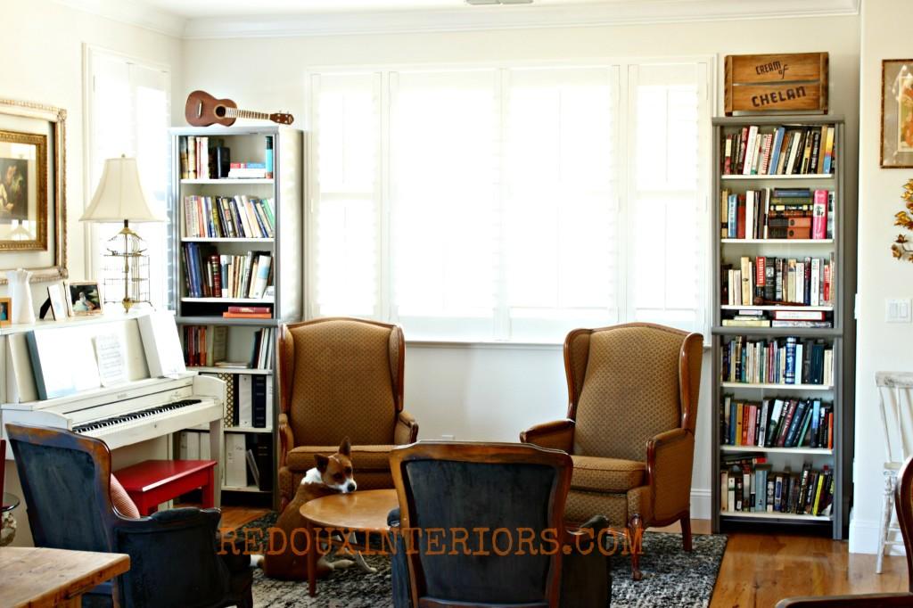 Closet Organizer turned Bookshelf Redouxinteriors