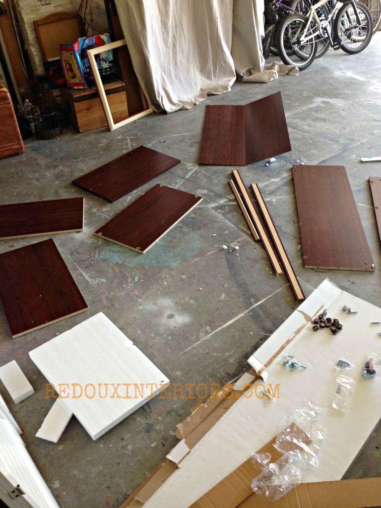 Closet organizer in pieces redouxinteriors