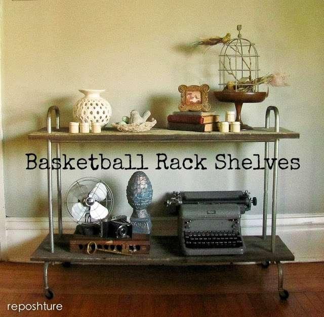 basketball rack shelves