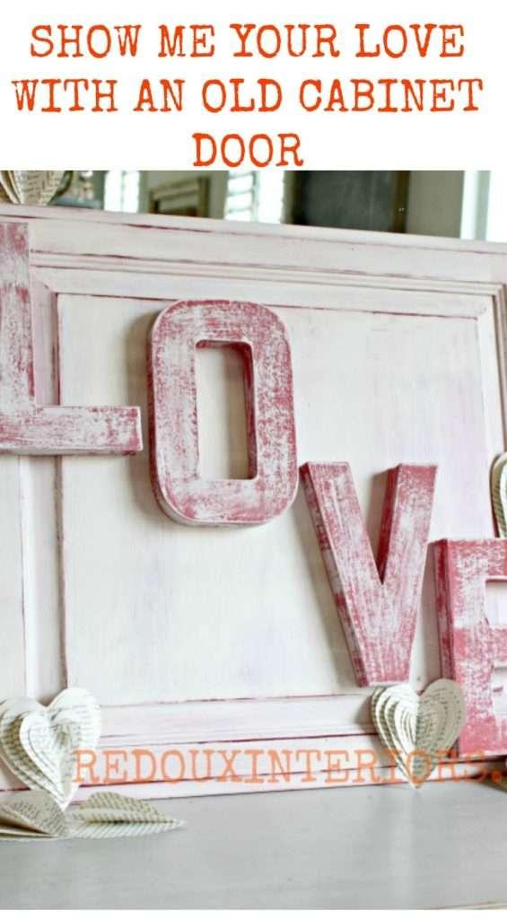 Cabinet door with love redouxinteiors diy paint