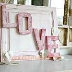 Love Sign from Cabinet Door