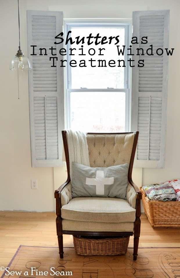 Sew a Fine Seam Shutters as Window Treatments