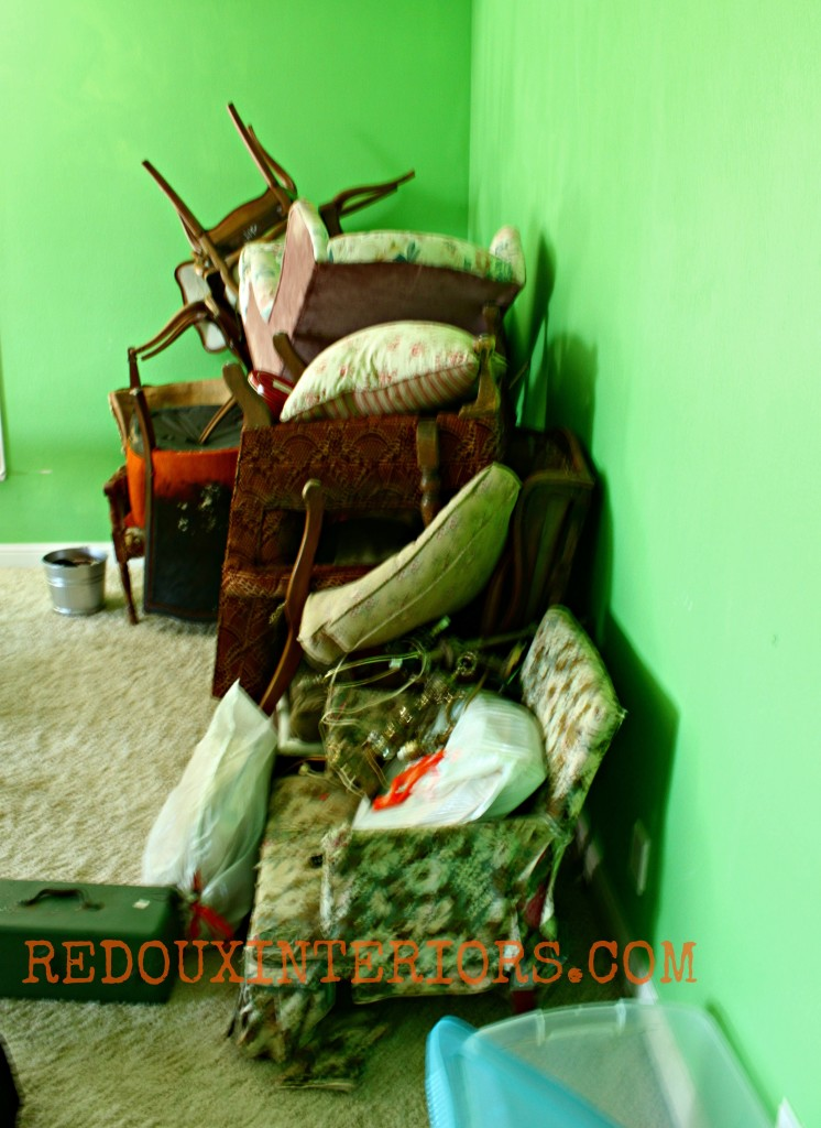 Stack of chairs need upholstering redouxinteriors