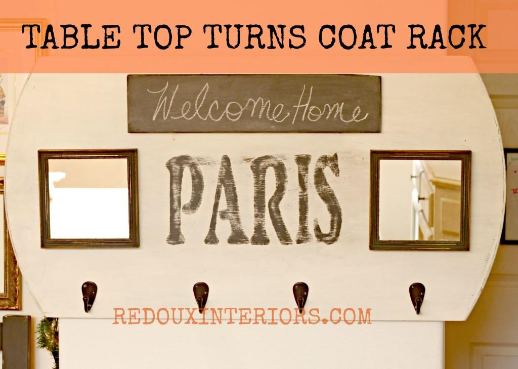 Table turned Coat rack BANNER  Redouxinteriors