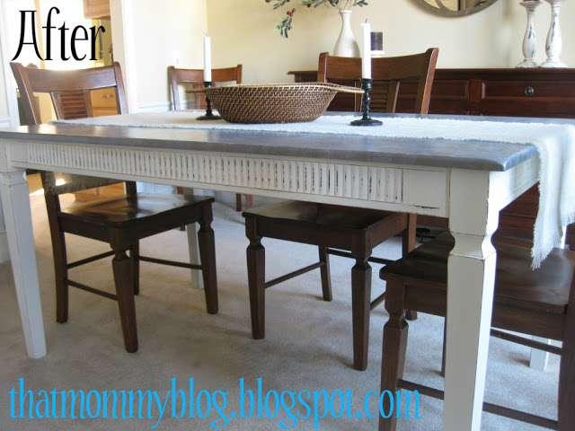 Zinc Faux Table