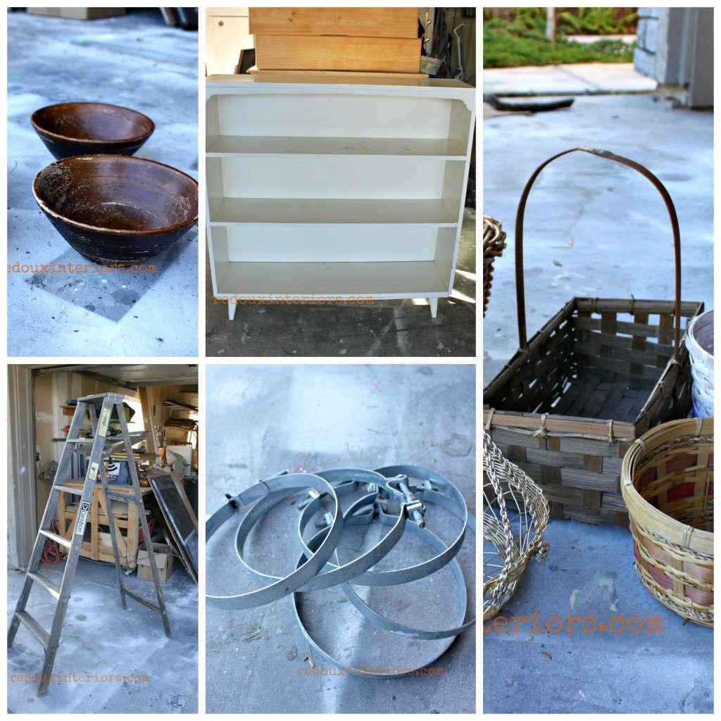 Collage of ladder bowls etc