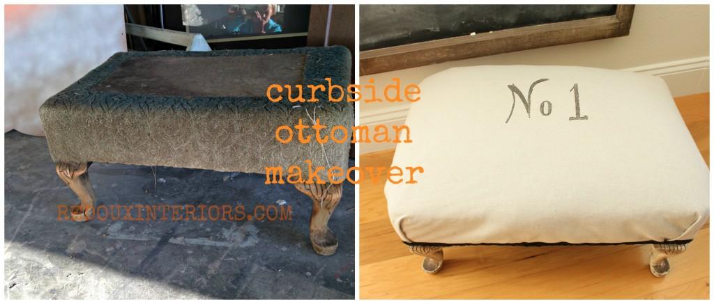 dumpster ottoman before and after redouxinteriors