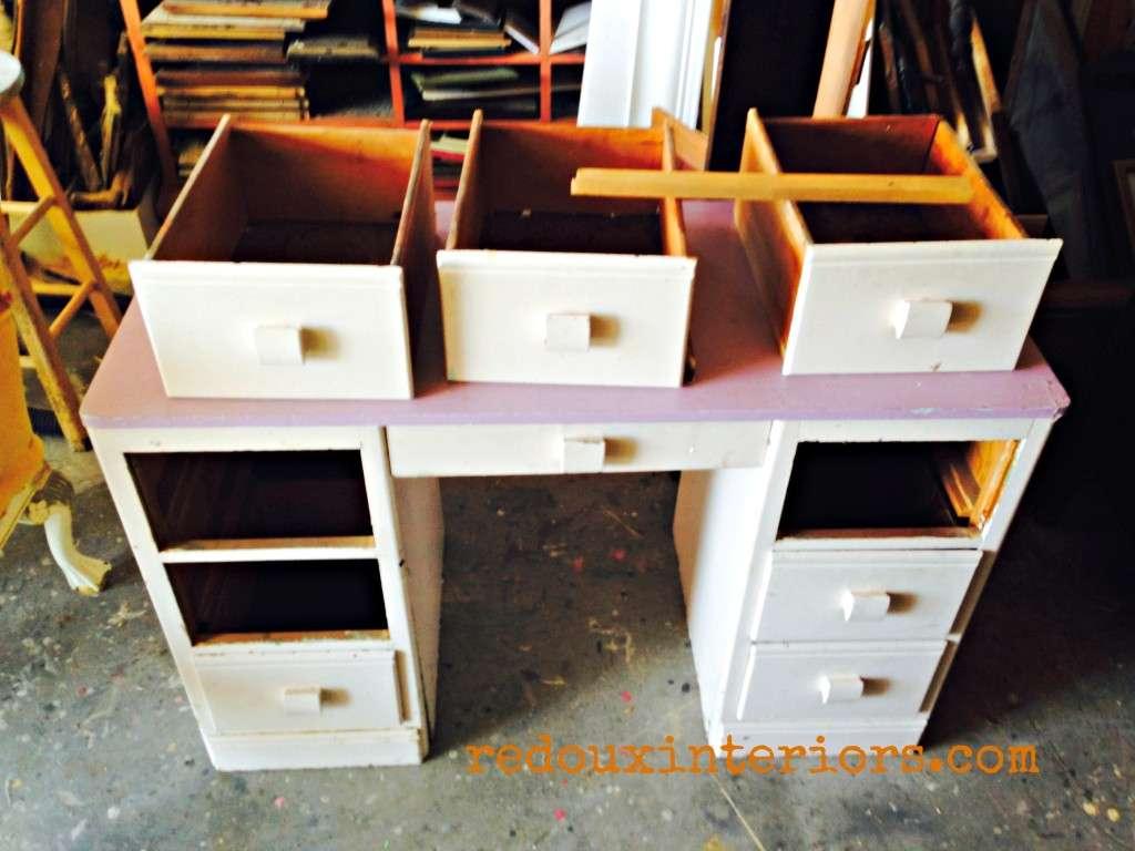 Dumpster desk redouxinteriors