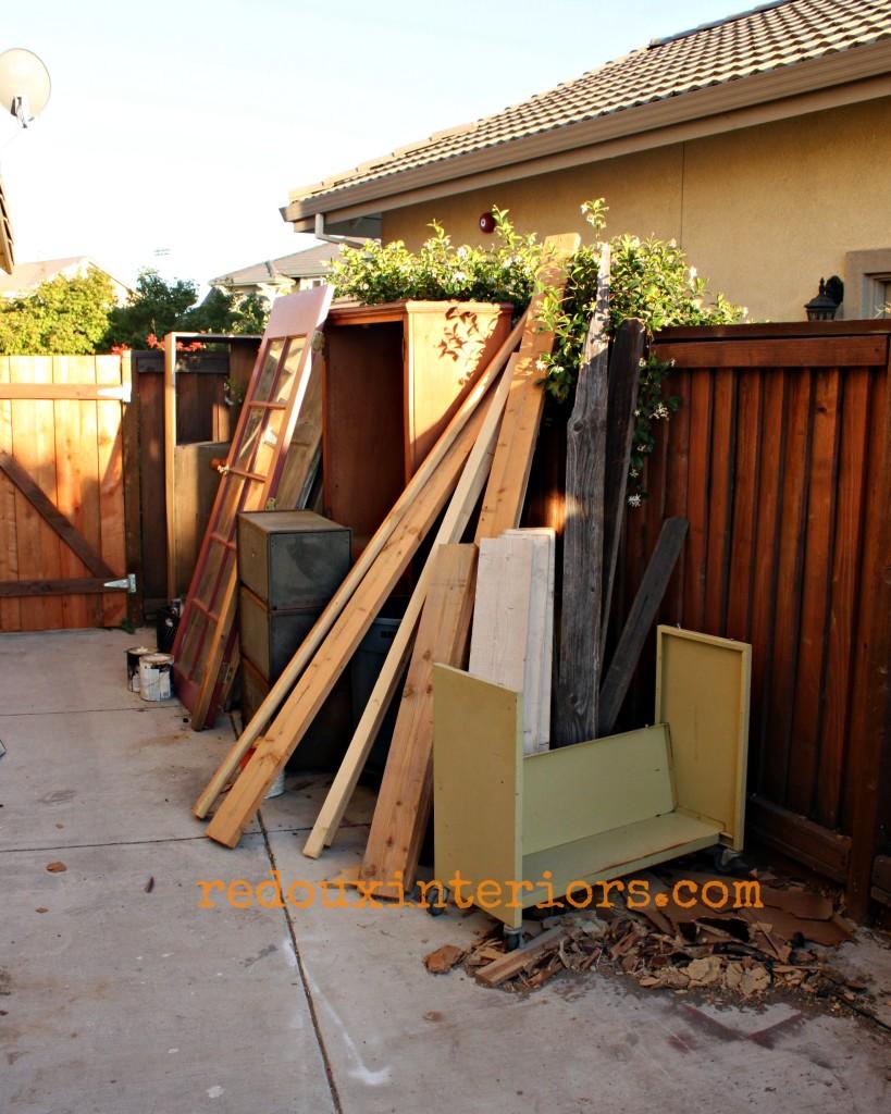 Side yard of less junk redouxinteriors