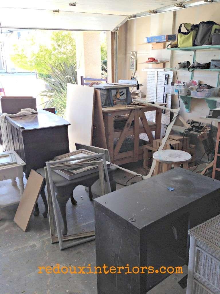piles of junk in the garage redouxinteriors