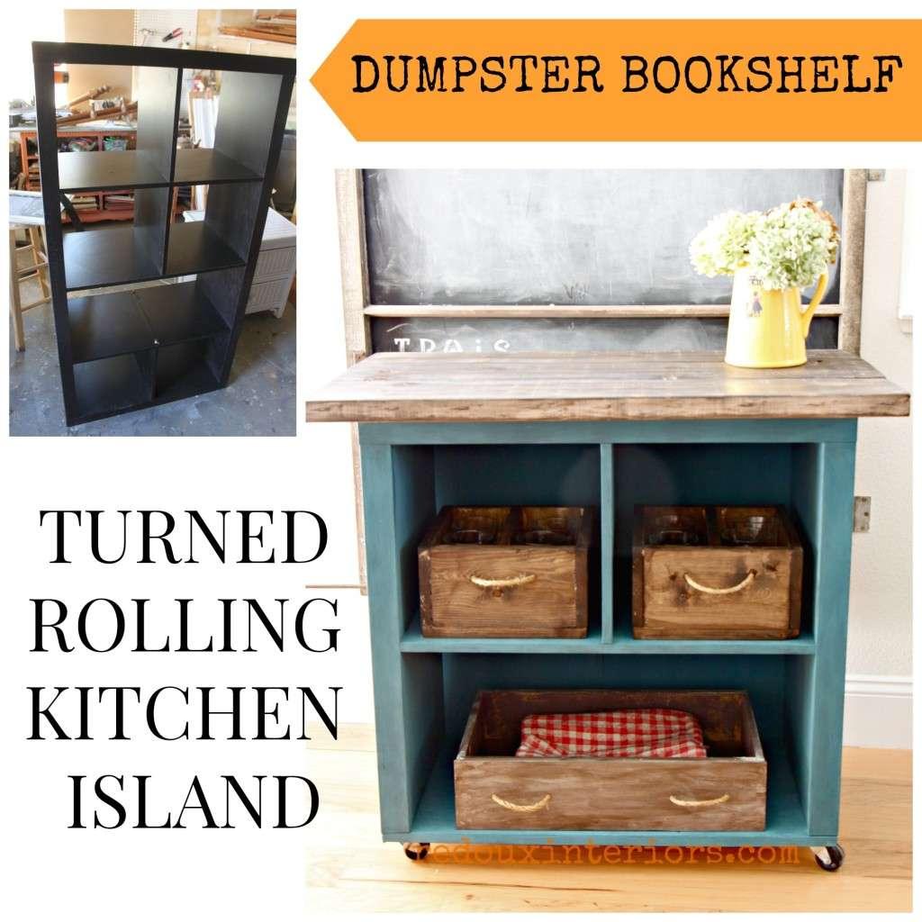 dumpster bookshelf turned cart redouxinteriors