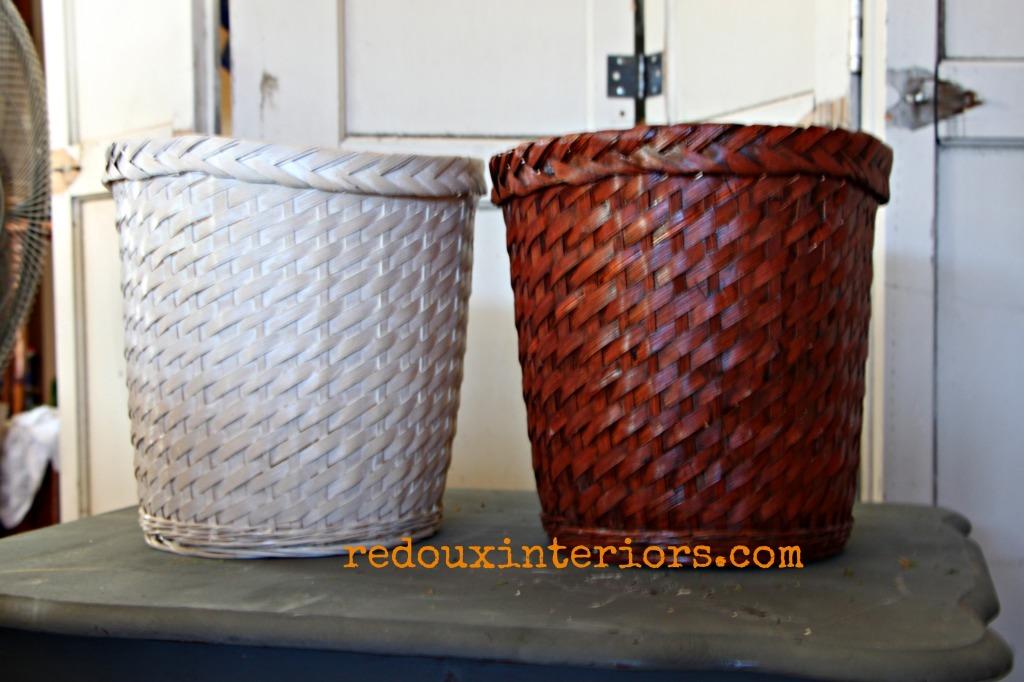 dumpster found baskets redouxinteriors