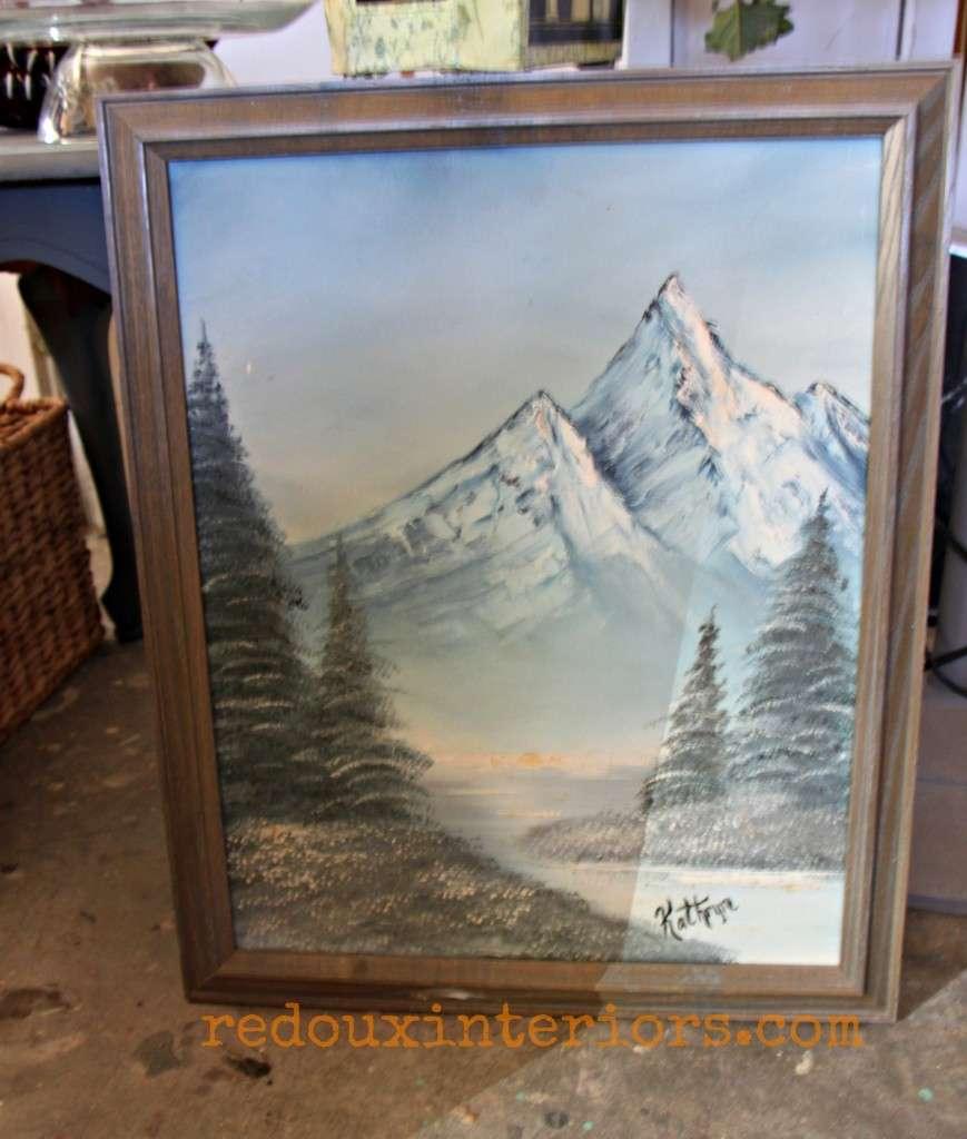 dumpster found painting redouxinteriors