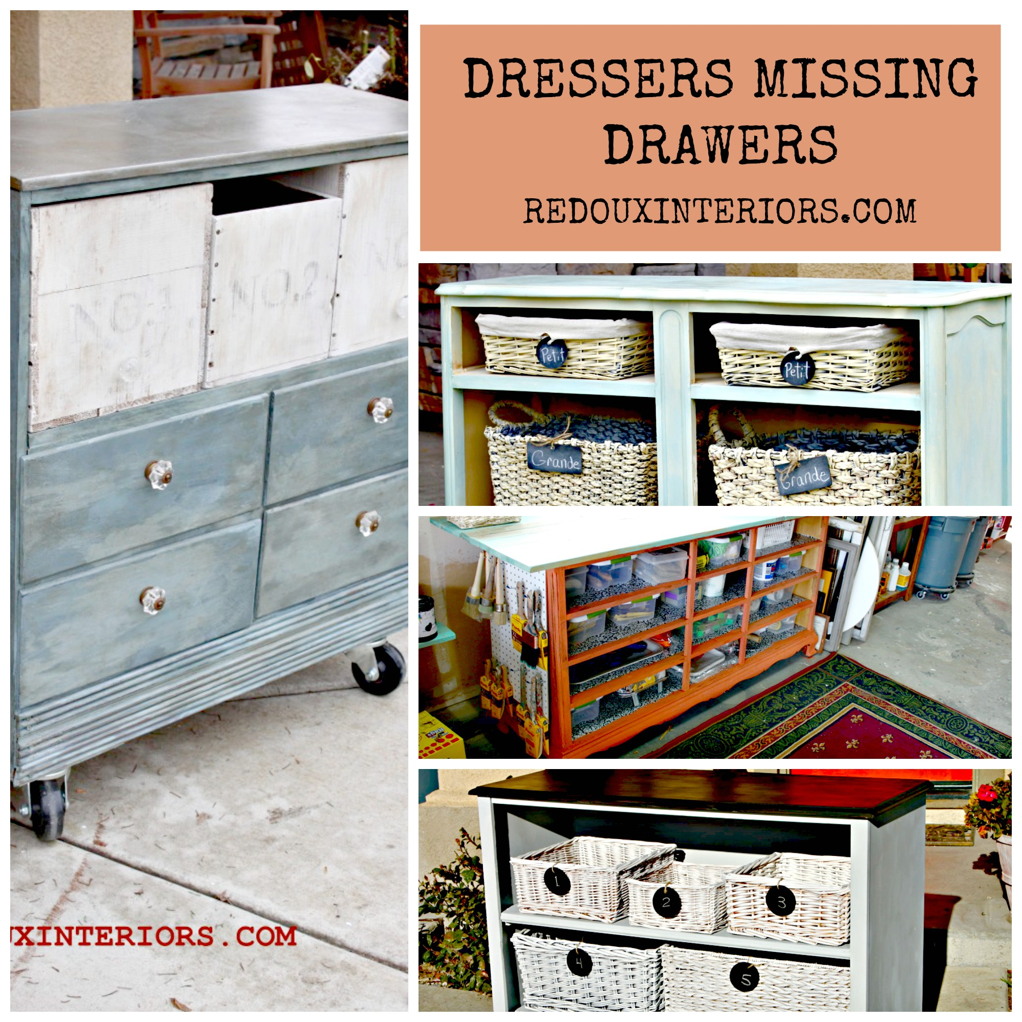 16 Fabulous Ways To Repurpose Old Dresser Drawers Side Tables