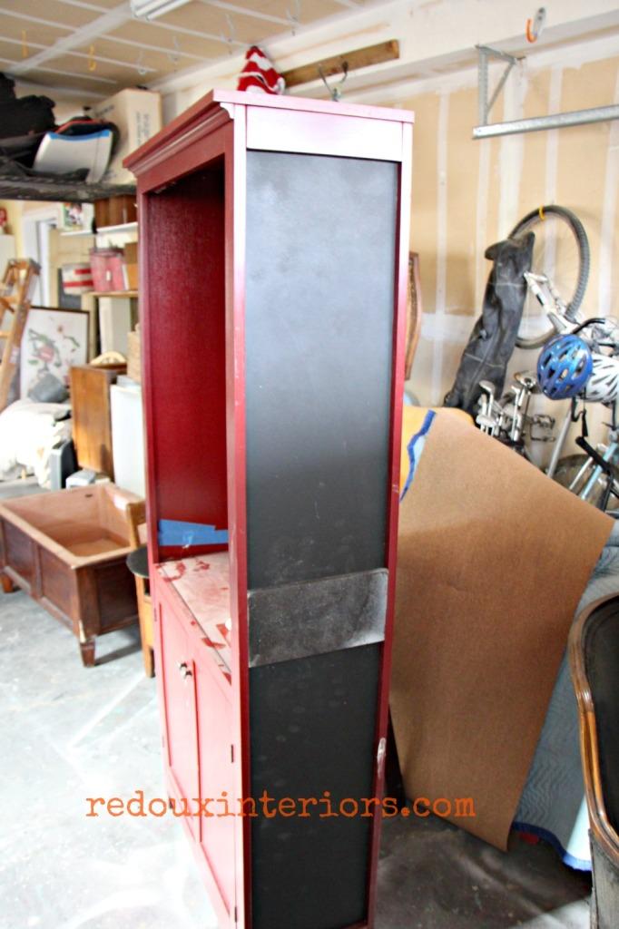 Found behind target broken bookshelf turned command center during redouxinteriors