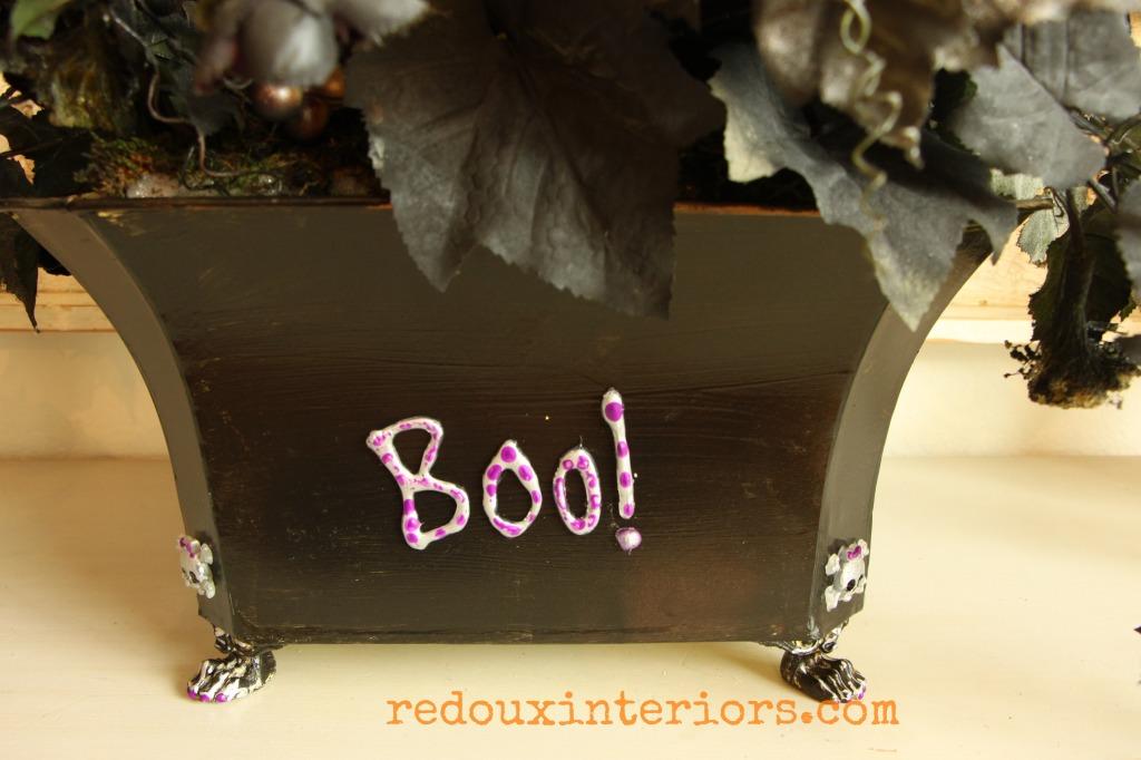 Mod Podge Hot Glue Halloween floralmakeover redouxinteriors