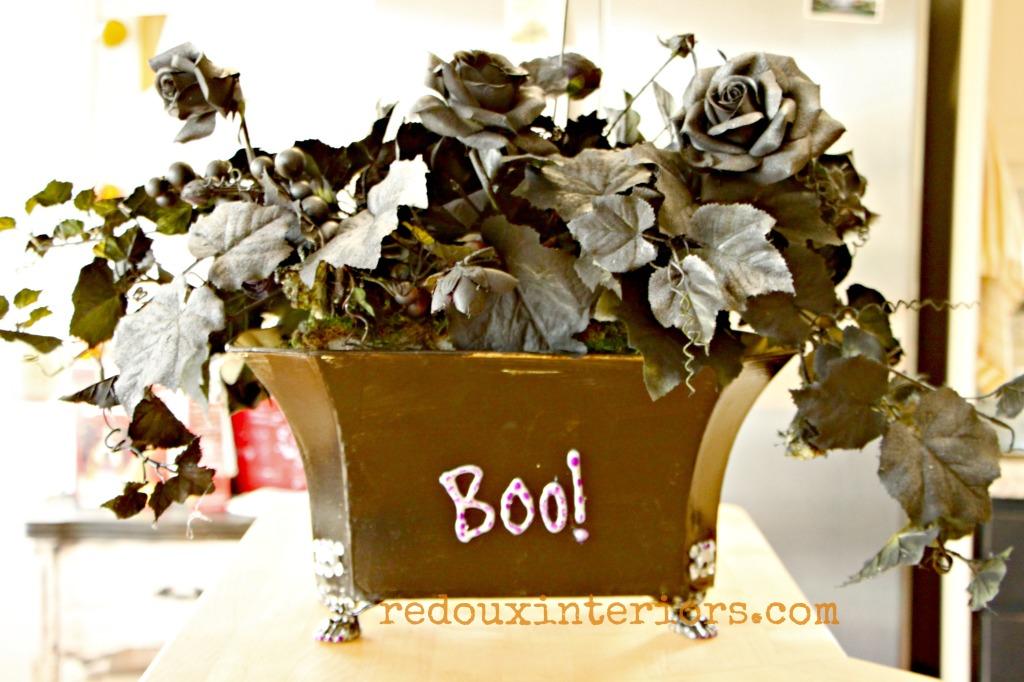 ModPodge Floral Halloween makeover redouxinteriors