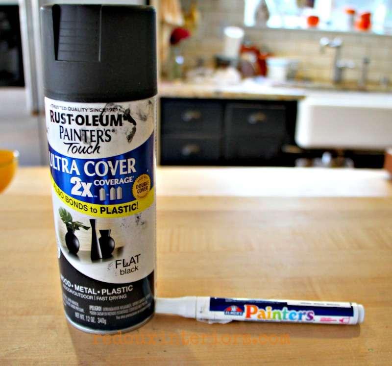 Spray paint and paint pen transform bowl redouxinteriors