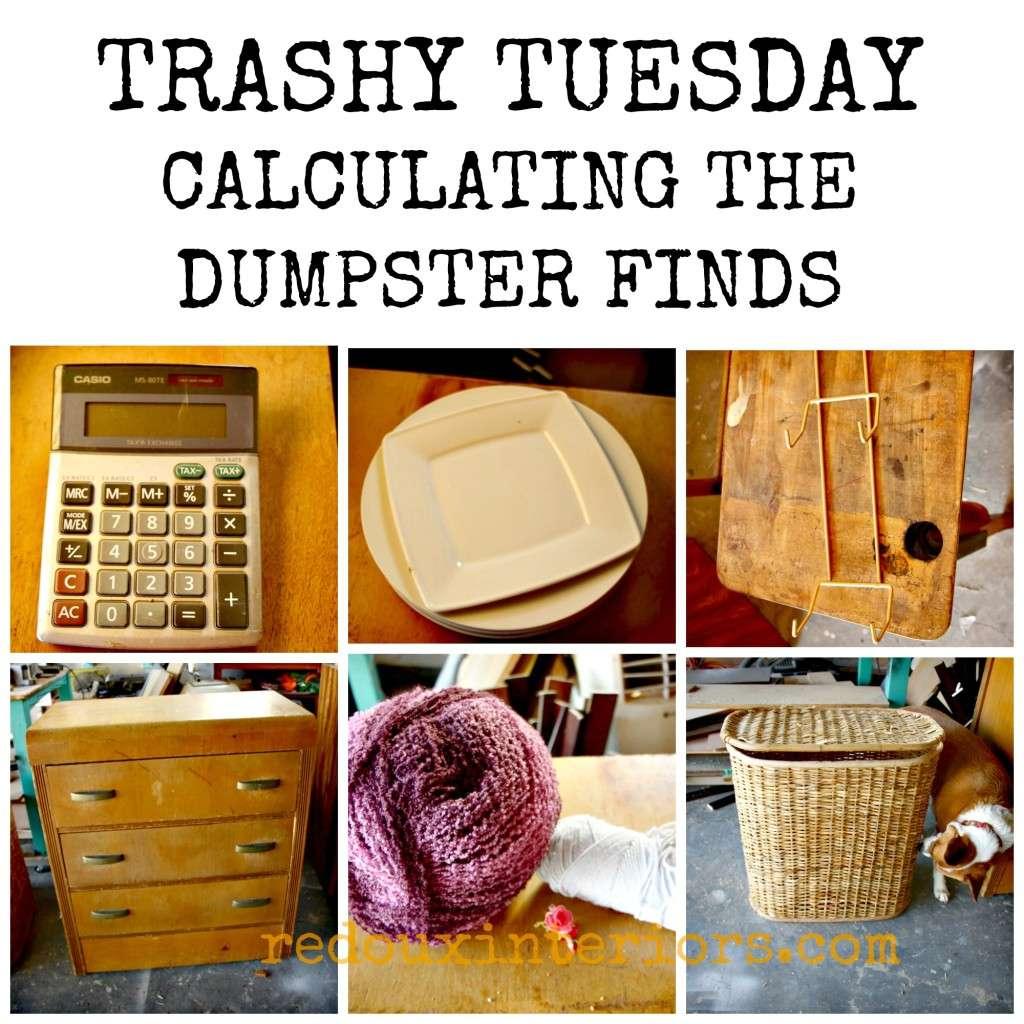 Trashy Tuesday Dumpster Diving Finds Redouxinteriors
