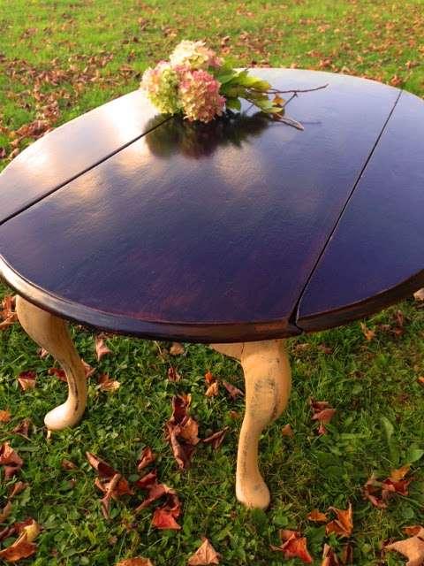 West coast revival drop leaf coffee table