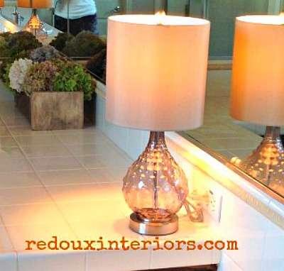 Lamp in master bathroom redouxinteriors