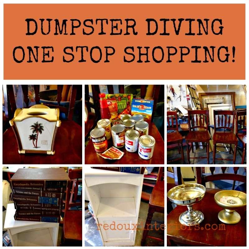 dumpster diving one stop shopping redouxinteriors
