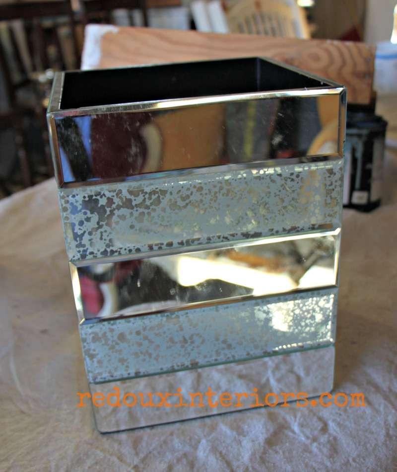 dumpster found mirrored trash can redouxinteriors